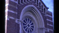 1943: the front of a church BRIDGEPORT, CONNECTICUT Stock Footage