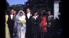 1943: couples on row BRIDGEPORT, CONNECTICUT Stock Footage