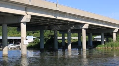 Passing Orillia Atherley Narrow Bridge Stock Footage