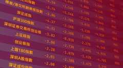 Chinese stock market indices start growing, financial success, positive forecast Stock Footage