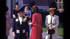 1943: women taking a picture BRIDGEPORT, CONNECTICUT Stock Footage