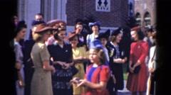 1943: outside crowds BRIDGEPORT, CONNECTICUT Stock Footage