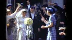 1943: on a memorable wedding day BRIDGEPORT, CONNECTICUT Stock Footage