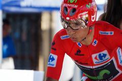 Nairo Quintana, Movistar team Stock Photos