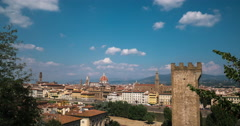 A view of Florence Italy in timelapse 4k - from Palazzo Vecchio to Duomo Stock Footage