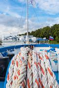 Mooring rope ship Stock Photos