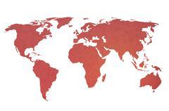 World map vintage artwork Stock Photos
