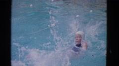 1953: backstroke race COTTONWOOD, ARIZONA Stock Footage