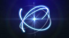 Atom lens ray light Stock Footage