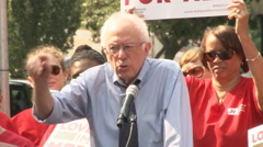 Bernie Sanders Blasts Drug Companies Stock Footage