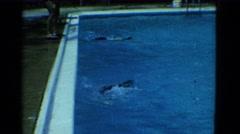 1953: freestyle swimming COTTONWOOD, ARIZONA Stock Footage