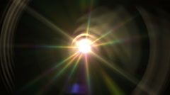 Lens flare ray light Stock Footage