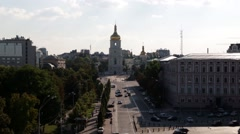 Sophia  church in Kiev on a bright day Stock Footage