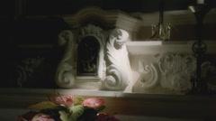 Church altar light ray soft mystic Stock Footage