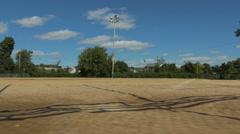 4k - Camera moving around baseball field Stock Footage