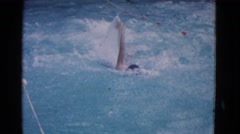 1953: man swimming in a pool. COTTONWOOD, ARIZONA Stock Footage