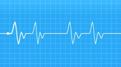 Realistic indicators of human heartbeat Stock Footage