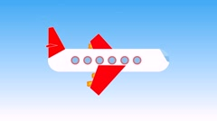 Abstract flying plane in the air Stock Footage