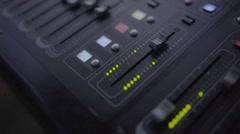 Mixer audio sound studio slog video Stock Footage