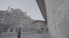 Historic old mosque islam Istanbul Turkey Stock Footage