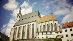 Saint Vitus Church With Clouds Moving In The Background Stock Footage