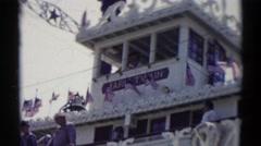1959: mark twain riverboat DISNEYLAND, CALIFORNIA Stock Footage