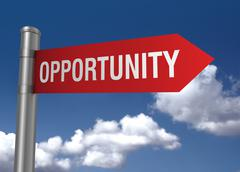 Opportunity road sign Stock Illustration