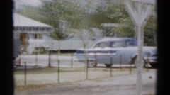 1959: a family picnic area with many cars is seen DISNEYLAND, CALIFORNIA Stock Footage