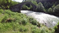 Old historic stone bridge Stock Footage