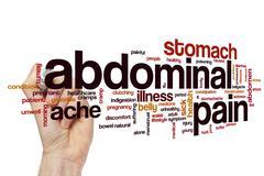 Abdominal pain word cloud Stock Illustration