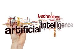 Artificial intelligence word cloud Stock Illustration