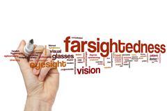 Farsightedness word cloud Stock Illustration
