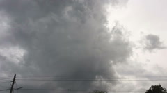 Time lapse dark clouds in the sky before raining Stock Footage