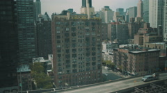 Aerial over 1st Ave in New York City Stock Footage