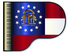 Grand Piano Georgia Flag Stock Illustration