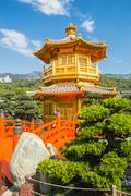 Nan Lian Garden in Hong Kong, China Stock Photos