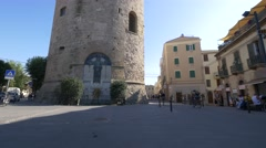 Old Town in Alghero, Sardinia. Stock Footage