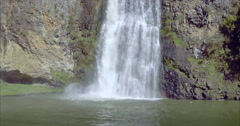 Aerial drone view of hunua waterfall, auckland, New Zealand Stock Footage