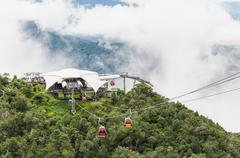 Cable car at view point of Langkawi Sky Bridge in Langkawi, Malaysia Stock Photos
