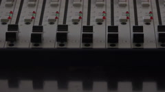 Keys keys in the multichannel audio mixer for broadcasting and music summary Stock Footage