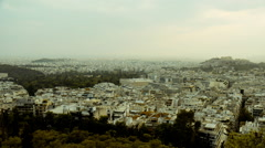 Athens skyline,motion control timelapse on a rainy autumn day Stock Footage