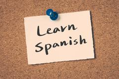Learn Spanish Stock Illustration