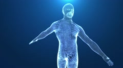 Human body wired. Stock Footage