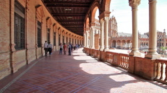 Plaza de Espana gallery Stock Footage