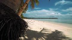 White sand beach on tropical island, Siargao Island, Philippines Stock Footage
