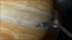 Jupiter mission, Juno spacecraft Stock Footage