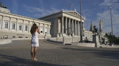 Travelling in Europe, photographing architecture Stock Footage