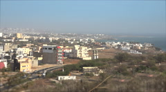 Panoramic view of Dakar from Renaissance monument Stock Footage