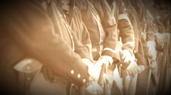 Civil War soldiers standing in a line (Archive Footage Version) Stock Footage