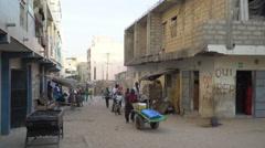 African slum street scene - Dakar, Senegal Stock Footage